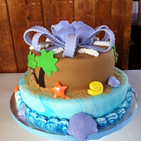 Tropical Engagement Cake Destination Wedding so they wanted a tropical engagement cake.. simple