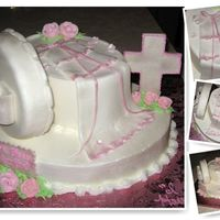 Gift Box Christening Cake And Gown Inspired by a fellow CC'r , tanyacakes I think? Thanks so much! Small oval and large oval Lemon flavored cake, Iced in Buttercream w/...