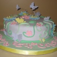 Butterfly Cake Butterfly cake with spring theme.