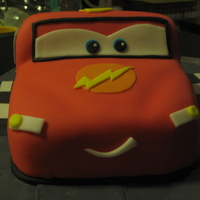 Lightning Mcqueen Cake My first sculpted cake....stressful, but fun.There was a great YouTube video from the UK that made it really easy to structure out. Used a...