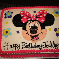 Minnie Mouse Birthday Cake my first minnie mouse cake.. i was so nervous