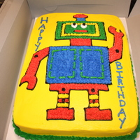 Robot Cake i got this idea from another, but it turned out super cute!