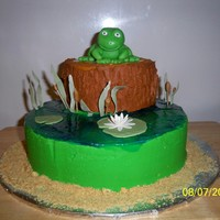 Frogs   A cake I did for my wifes best friend.