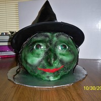Witch This is a cake I decorated for a halloween party at work.