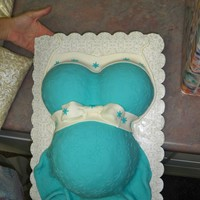 Baby Belly Decorated for my wifes best friends baby shower.