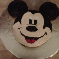 Mickey Mouse Cake   Dairy-free pumpkin cake with dairy-free frosting.