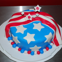 Memorial Day Cake Wanted a cake for this weekend and remembered the star cake from Wilton I'd seen before...so threw this cake together today. French...