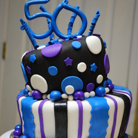 50Th Bday Cake for my mom's 50th birthday party to match the decorations. TFL!