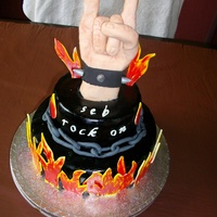 Rock On hard rock cake