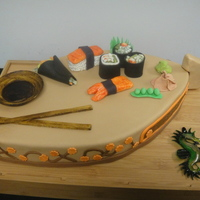 Sushi Boat This was my cake for the cake graduation classes..