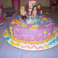 I Carly / Igracie 8'' cake w lavender BC n BC decorations my daughter is a hugh I carly fan and already had the lil figures which she added lol...