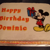 Mickey Birthday Cake This was the cake I made for our son's 2nd birthday. The letters were done in fondant with the Wilton Letter Molds, and Mickey was a...