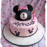 Isabella's Minnie Mouse Cake