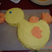 Duck Birthday  I made this cake out of a simple sponge cake, I got the shapes from first drawing them on baking paper, then transferring to the cake to...