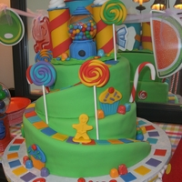 Candyland Cake This cake was definitely inspired by Somethin-Sweet! Thank you for posting your pictures with such an awesome idea. My friend loved the...