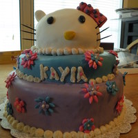 Hello Kitty   All fondant and fondant decor. Used the wilton daisy cutters! TFL!