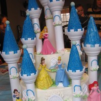 Cinderellas Castle Cinderella's castle for my daughter's 3rd birthday. Buttercream 6' and 10' rounds with fondant flowers and buttercream...