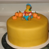 Scarecrow Pumpkin Thanksgiving Cake This is my very first cake. My very first time making ganache (ganache under fondant). My very first time making fondant or gumpaste or...