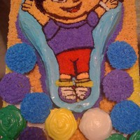 Dora Bday Cake Dora Birthday cake with cupcakes