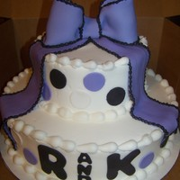 Purple And Black Bridal Shower Cake