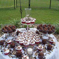 Groom's Table This is a picture of a grooms table. I used chocolate cupcakes and red velvet cupcakes.