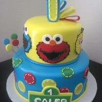 The Baby's Sesame Street Cake   This cake was inspired by CakeMommyTX. TFL!!