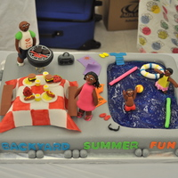 The Backyard Summer Fun Cake I was a contestant in a Wilton's cake challenge and won 2 place. All fondant pieces. TFL!