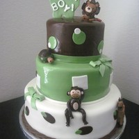 The Cocoa Tails Baby Shower Cake   this cake was designed to match cocoa tails baby bedding. TFL
