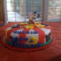 Mickey Mouse Birthday Cake And Smash Cake