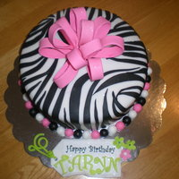 Zebra Print Cake Chocolate cake with vanilla buttercream.