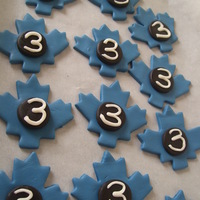 Toronto Maple Leaf Toppers For Cupcakes