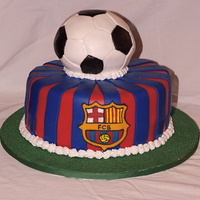 Barcelona Football Club Cake Guinness chocolate cake with Bailey's Irish Cream filling.