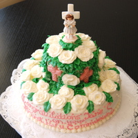 First Communion Cake All buttercream