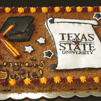 Graduation Cookie Giant choc chip graduation cookie. Thanks for all the tips from the people on the site.
