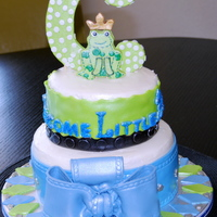 Baby Shower The design was made to match the diper cake. French vanilla cake with MMF details.