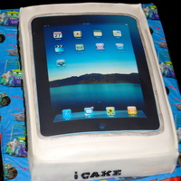 Ipad French Vanilla w/buttercream, covered with fondant. This one was for an adult who really likes his IPad.