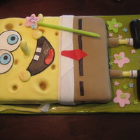 Spongebob  Only a good friend could convince me to try this for her daughter! I do love the way her turned out. He took me a bit to get him figured...