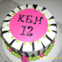 Zebra Print Cake Chocolate WASC cake with BC icing and MMF accents