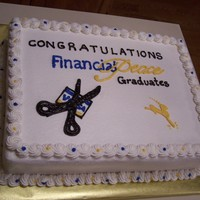 Dave Ramsey Cake A graduation cake for Dave Ramsey's Financial Peace University. All buttercream.