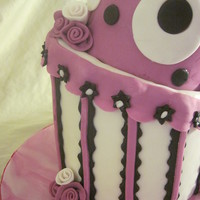 Pink And Black Topsy Turvy Cake