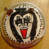 Rock Cake I made this cake for my son who loves Gene Simmons
