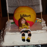 Exhausted Volleyball Player Right now my daughter has Volleyball fever so I decided to make a cake for her 14th birthday