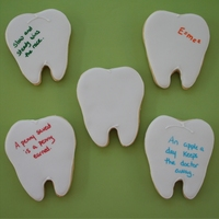 Wisdom Teeth   some of the tooth cookies I gave to the oral surgeon who took out my wisdom teeth last week.
