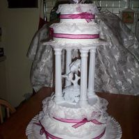 Ribbons And Lace This was a very easy cake to do. There is very little icing technique involved, because the lace and ribbon really make the cake.The bride...