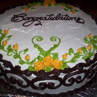 Actually An 'elopement' Cake One of the girls at work bakes, but doesn't decorate, so she brought me the cake and asked me to pretty it up. (A coworker got married...