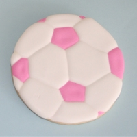 Pink Soccer Ball I made soccer cookies for my niece's b-day last week. It was the first time Ive done cookie since I cut my finger a month ago - they...