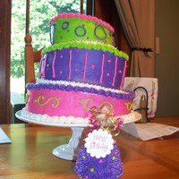 Crooked Cake And Barbie My best friend wanted a crooked cake for her daughters birthday..the daughter wanted a Barbie Cake. It was my first time trying a crooked...