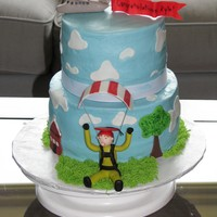 Skydiving Graduation Cake Graduation cake for a young man who recently went skydiving for the first time. the plane represents his high school and he has landed at...