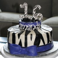 Sweet 16 Zebra Print With Purple Bow