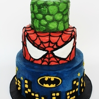 Superhero Cake All buttercream cakes are so daunting to me!